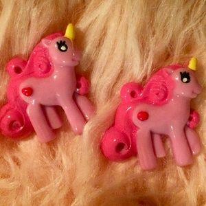 Purple & Pink Unicorn Stud Earrings NWT